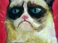 Grumpy cat portrait for friend